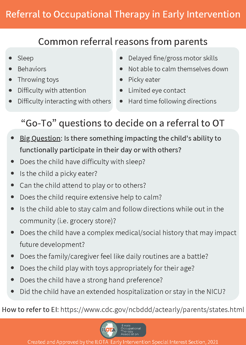 Handout on When to Refer to an OT